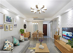 96平三居室现代简约风装修精选案例分享  简洁明亮处处透露出温馨