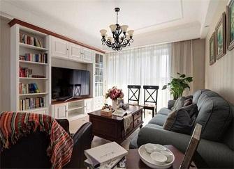 140平米两室两厅美式装修 完美体现收纳空间