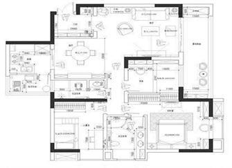 三室两厅两卫两阳台新房装修效果图 全屋定制花费30万真值