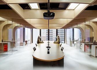 纯白色简约办公室装修 原木空间才能打造真正的纯净美