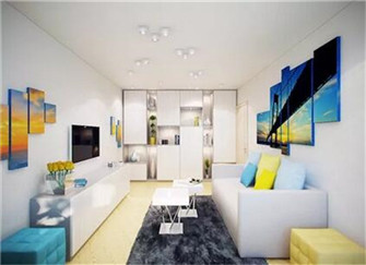 46平方小公寓装修精选案例  畅游在蓝色的海洋中