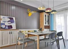 86平米北欧装修效果图 卡座餐厅是亮点!