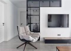 118㎡3室1厅北欧现代混搭效果(多图)  餐厅与厨房紧密相连