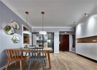100平米家装北欧风格 全包12万元效果还是不错