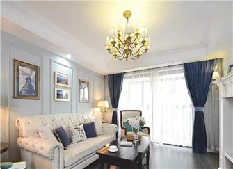 120平方三室两厅装修案例 美式风格优雅大气