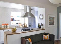 厨房和客厅连着中间如何做隔断 这么做美翻了!