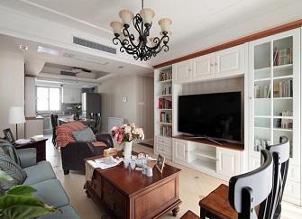 110平米美式风格三室两厅装修