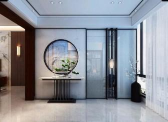 焦作新中式装修时尚与古典并存  进门玄关仿佛入户花园
