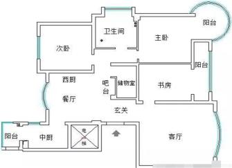 120平米婚房装修效果图 附带详细装修清单和品牌
