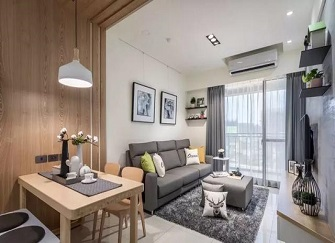 惠阳66平米一室一厅北欧风装修案例 简直幸福感爆棚