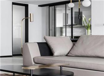125平三居室现代简约风装修效果图  舒适安逸温馨质感