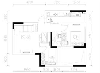 昆明45平米两室一厅装修 面积虽小胜在温馨简约