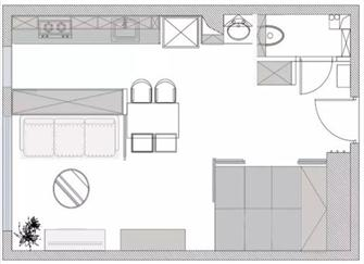 无锡40平米一室一厅装修 五脏俱全很暖心的家