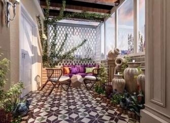 焦作阳台装修效果图(多图) 阳台花园美不胜收