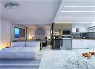 30平小户型公寓现代简约风装修效果图  单身贵族的生活从这里开始
