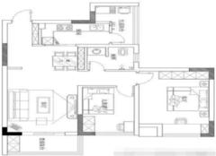 70平米两室一厅装修 典雅大气充满质感