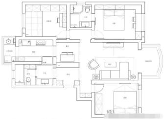 110平米三居室北欧风装修效果图 舒适简约颜值高收纳强