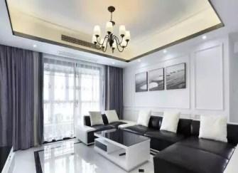 六盘水140平三室两厅装修(多图)客厅高端大气