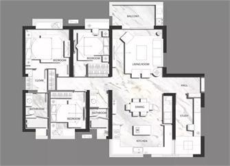 淄博130平米美式风格装修效果图 享受高品质家居生活