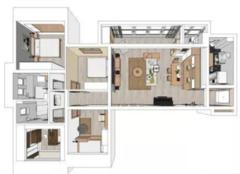 150平米原木北欧简约风格装修 享受温馨自然的家居