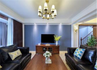 200平方复式楼装修效果图 美式复古风格质感强