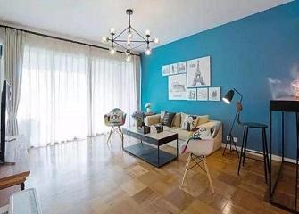 80㎡混搭风装修效果图 多种原色的融合温馨舒适