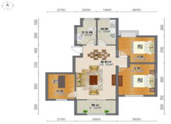 杭州泊林印象90平三室两厅简约风装修设计