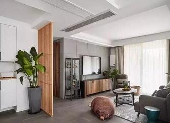 常州绿地香颂127平米现代简约三居室装修效果图