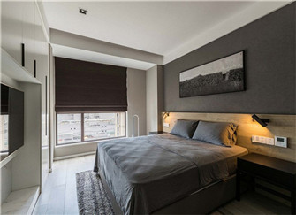 重庆尚江宸溪香苑90平米三室一厅装修设计案例