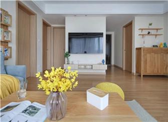 长沙润和又一城92平米两室两厅北欧风格装修案例