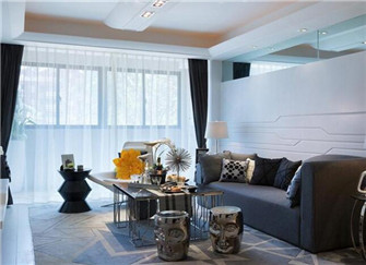 武汉大城小院125平米现代简约风装修案例分享
