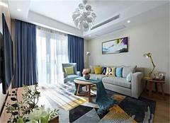 杭州九莲新村94㎡三室两厅北欧风装修设计案例