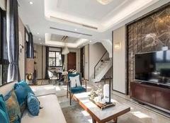 九江御江一品98平新中式三居室装修案例