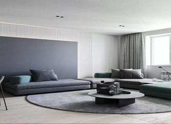 濰坊中央生活城88平二居室現代美式風裝修案例