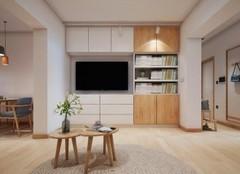 银川绿地国际花都96㎡日式风装修设计案例