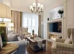 115㎡两居室轻奢美式风装修案例