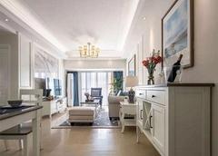 珠海西海岸花园109平米现代美式装修案例 简单优雅舒适