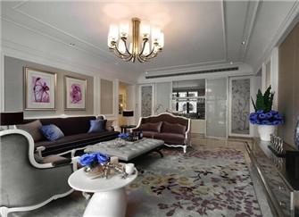 宁波保利城300平欧式风格装修案例分享