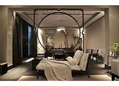 句容金樾公馆110㎡两室两厅新中式风格装修案例