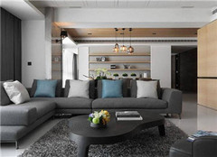 达州泰诚十里水街168平现代简约风装修案例欣赏
