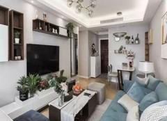 朔州奥林花园小区86平两居室装修案例