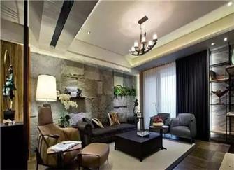 株洲130平米三室两厅装修效果图 幽静的新中式风格设计