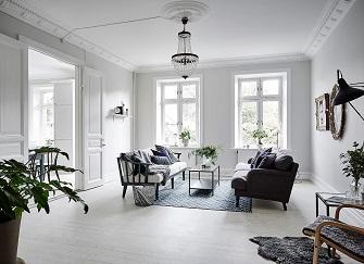 海口98㎡北欧风格三居室装修案例
