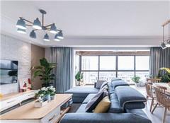 达州125平米三居室北欧风装修案例欣赏