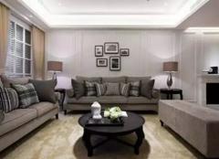 梅州三居室美式新古典装修样板间