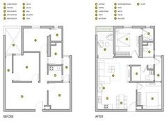 90平米两室改三室案例 江油90平米5万装修效果图
