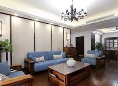 140平三居室新中式裝修案例 簡單大方很舒適