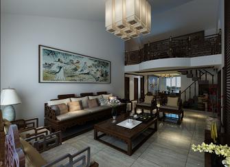 建邦原香溪谷中式古典200平米装修案例