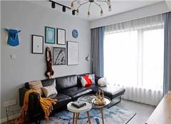 昆山香溢紫郡89㎡两室两厅装修设计案例
