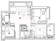 90平方米装修全包4万元贵吗 小三室装修布局很NICE